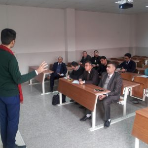 Accounting department lecturer delivered a symposium