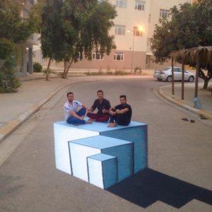 3D painting on the road of Cihan University-Erbil