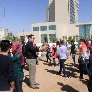 زيارة علمية الى طلبة المرحلة الخامسة – مادة التصميم الحضري