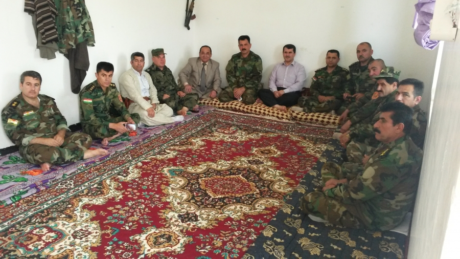 The head of Health administration Department Visits the Peshmarga