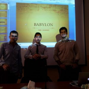 Babylon – a seminar by Al-Ameer Ali, Yasser Ahmed and Mohammed Al-Ameen