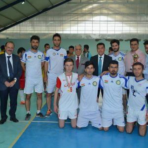 Students Team: Winner of the University Volleyball Tournament