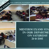 Midterm Exams – First Semester