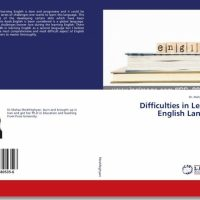 Dr. Mahsa published a book titled Difficulties in Learning English Language