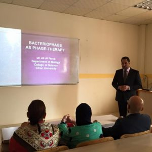 Presentation on bacteriophage as therapy