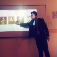 "A seminar entitled ""Avast Debate of Short Story"""