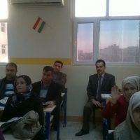 حضور السيد نزار عبد الرزاق لدورة تطوير اللغه الانكليزيه