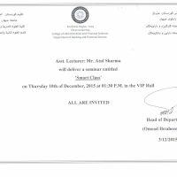 Smart Class Seminar Invitation