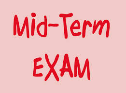 English Department`s Mid-term examination`s time table