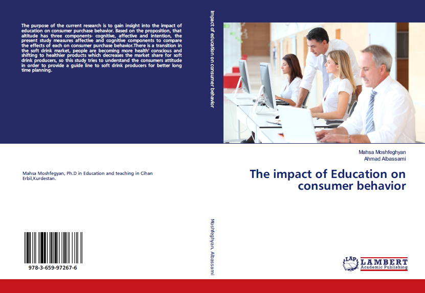 Dr. Mahsa published a book titled (The Impact of Education on Consumer Behavior)
