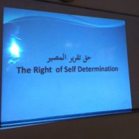 "A Seminar entitled ""Right of Self-determination """