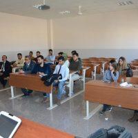 محاضرة المدرس مساعد عبير محمود جبار في قسم الاعلام عن المطلحات العلمية والاعلام
