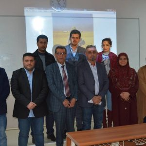 A lecture given by students of the media department – evening study about the work of the military reporter and the dangers he faces