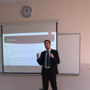 Accounting department lecturers delivered a seminar