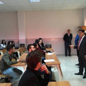 زيارة رئيس جامعة جيهان-أربيل الى قسم المحاسبة