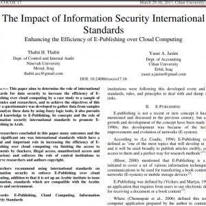Publishing a scientific paper