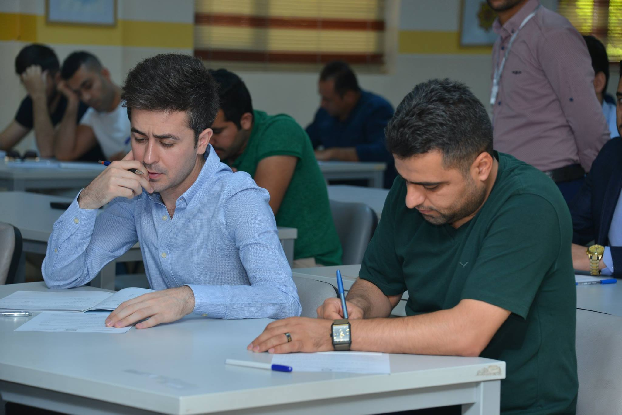 Student doing exam in Cihan University-Erbil