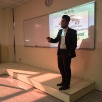 "Seminar of Student Amir Shakir Ismail entitled ""Techniques of Electricity Production in small Dams"""