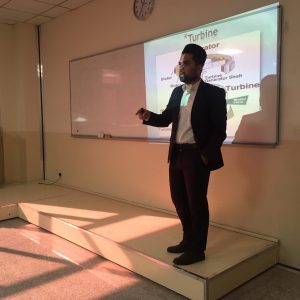 """Seminar of Student Amir Shakir Ismail entitled """"Techniques of Electricity Production in small Dams"""""""