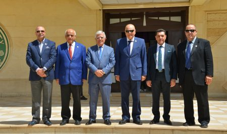 Cihan University – Erbil receives the Secretary General of the Arab Union of Universities