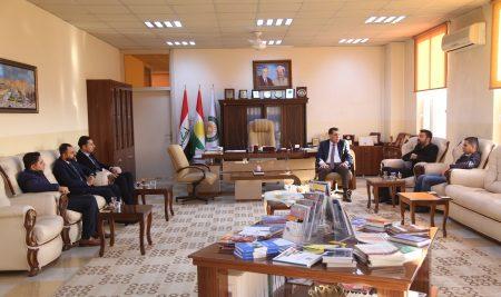 زيارة اللجنة التابعة لوزارة التعليم العالي والبحث العلمي الى جامعة جيهان – أربيل