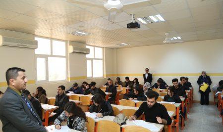 تفقد سير الامتحانات النهائية الكورس الأول – الدور الأول للسنة الدراسية 2018-2019 … جامعة جيهان – أربيل