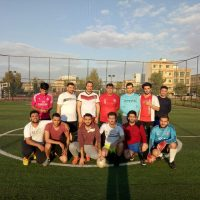 In a friendly football match students won the play against their lecturers