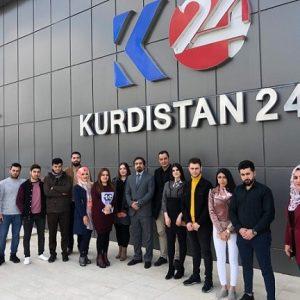 رحلة علمية الى قناة كوردستان 24