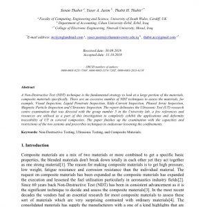 بحث مشترك مع جامعة ساوث ويلز \ المملكة المتحدة