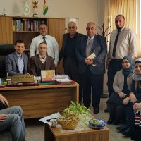 President of the University's visit to the Department of Business Administration
