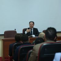 """A lecture titled """"Administrative Judiciary"""" Presented by the Judge Shuan Mohiuddin Ali in the Law Department"""