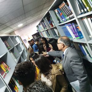 A scientific visit to the main library of Cihan university
