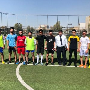 The Second Stage Represents The Communication And Computer Department Engineering In The Qualifying Championship Of The University Football