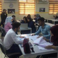 زيارة المرحلة الرابعه لمكتبة الجامعة