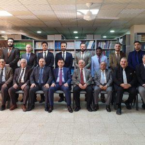 مجلس محافظة اربيل توجه رسالة شكر و تقدير لأساتذة قسم المحاسبة