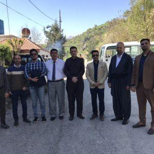 Visiting the tomb of The Kurdish legend, the late Mullah Mustafa Barazani