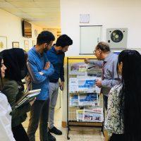زيارة علمية لطلبة المرحلة الاولى و الثانية الى مكتبة الجامعة
