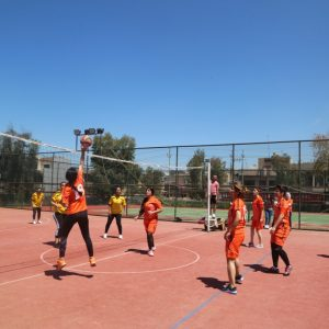 Friendly Volleyball Match For Girls