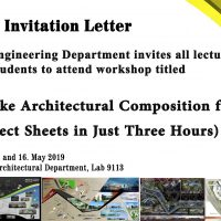 Architectural Engineering Department in Cihan University Invites to a Workshop about Architectural Composition