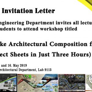 قسم الهندسة المعمارية يعلن عن اقامة ورشة عمل