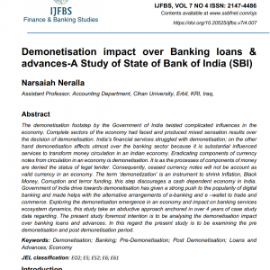 Publish a paper in the Journal of Finance and Banking studies