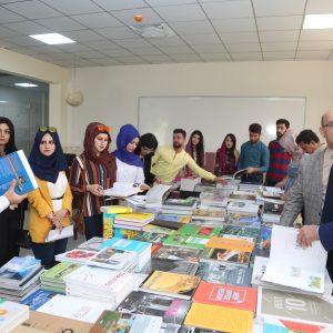 قسم الهندسة المعمارية في جامعة جيهان-اربيل يقيم معرضاً للكتب