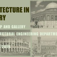 "Architectural Engineering Department in Cihan University Invites to a Workshop and a Gallery entitled"" Architecture in History"""