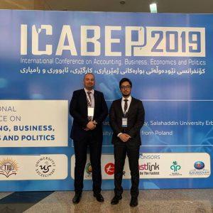 نشر بحث مشترك في المؤتمر الدولي لمجالات المحاسبة , الادارة , الاقتصاد و السياسة