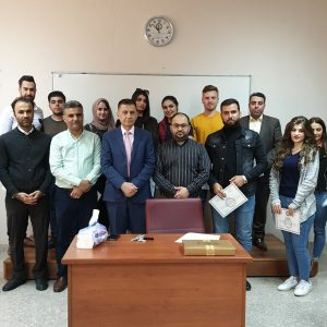 Honoring outstanding students in the accounting department of Cihan University Erbil