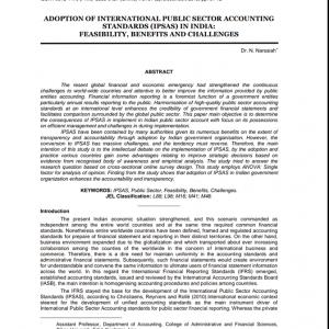 Publication of scientific research for Assistant Professor Narsaiah Neralla