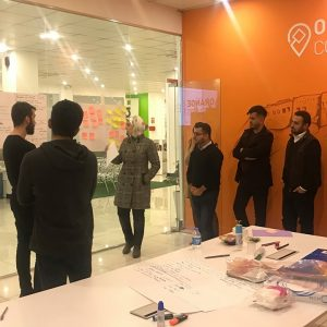 Participation in a workshop on design thinking