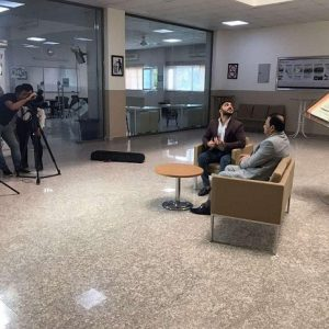 TV interview with the head of the Public Administration Department