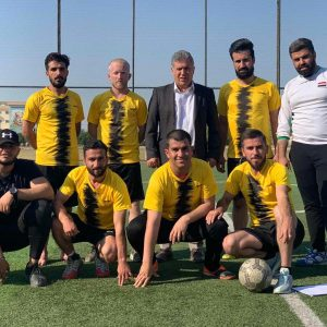 Organizing a friendly football match with the Biology  department team at Salahaddin University