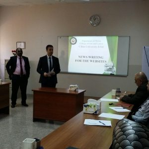 The Department of Media Conducted a lecture on writing news for the websites